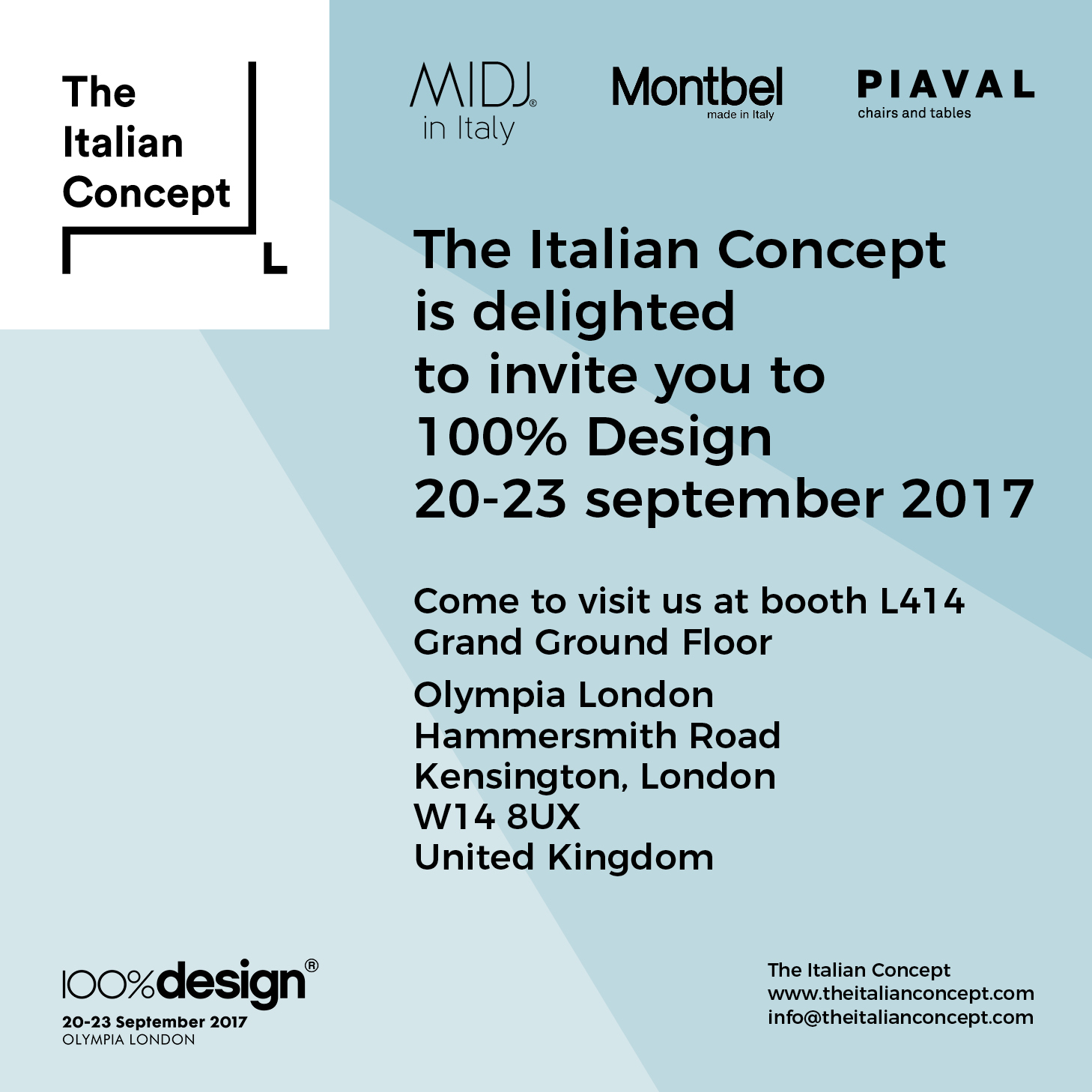 """100% Design @ Olympia London, 20 – 23 September 2017"""